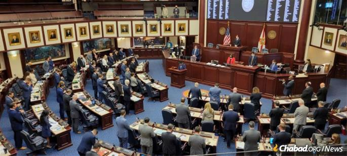 Earlier this year, Florida passed a Moment of Silence bill.