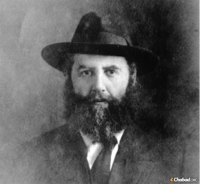 Rabbi Yosef Yitzchak as a young man.