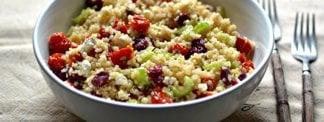Quinoa Salad with Slow-Roasted Tomatoes, Feta, Craisins & Celery