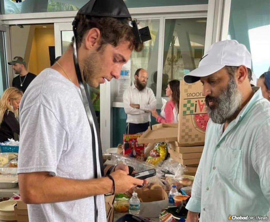 Chabad-Lubavitch rabbis and volunteers from the Shul of Bal Harbour/Surfside have spent the last few days coordinating emergency efforts and encouraging good deeds.