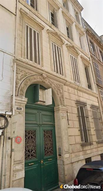 The home of Rabbi Schneur Zalman Schneerson at 33 Rue Sylabelle, Marseille, France, mentioned by the Rebbe in his letter to Greenberg.