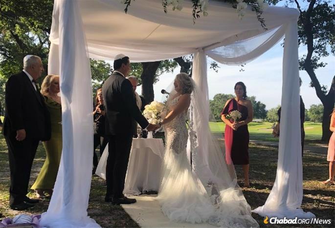 Nicole and Dr. Ruslan Manashirov at their wedding.
