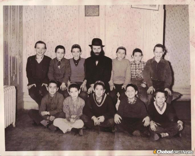 Korf with yeshivah students