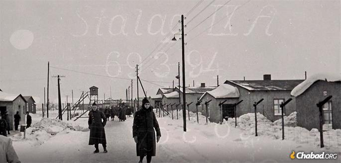 The Stalag IX camp (provided by The Jewish Foundation for the Righteous and Edmonds family)
