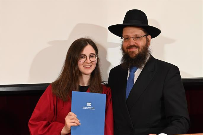 Rabbi Yehuda Teichtal was particularly proud that his daughter was among this year's top scoring students. (Photo: David Osipov)
