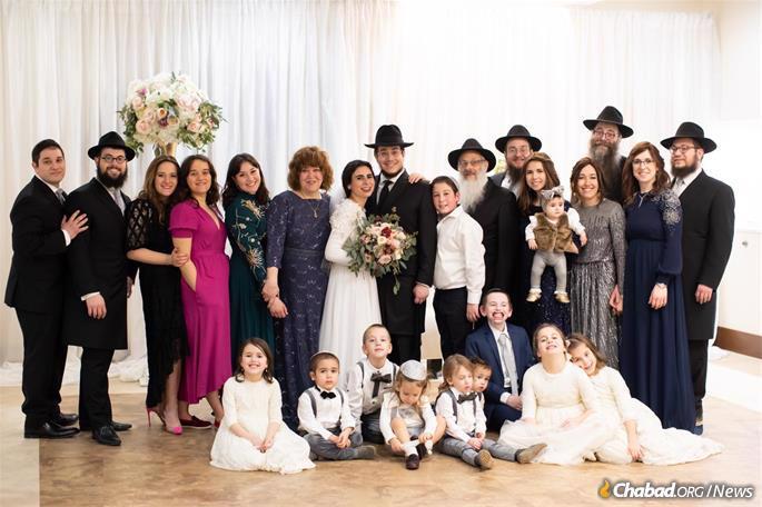 The Bassmans with their children and grandchildren.