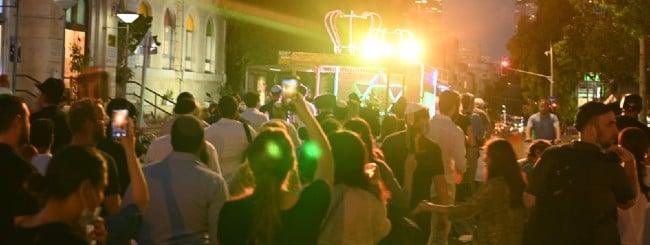 July 2021: Dancing Through the Streets with the Torah in the Heart of Tel Aviv