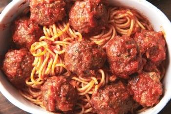 Community Spaghetti, Meatballs & Torah