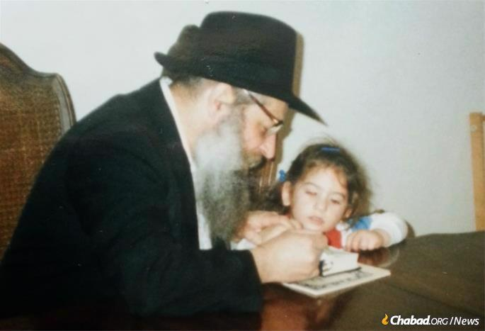 Learning with a grandson, Shmuel Dovid Wilhelm.