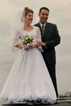 Alla and Vova on their wedding day.