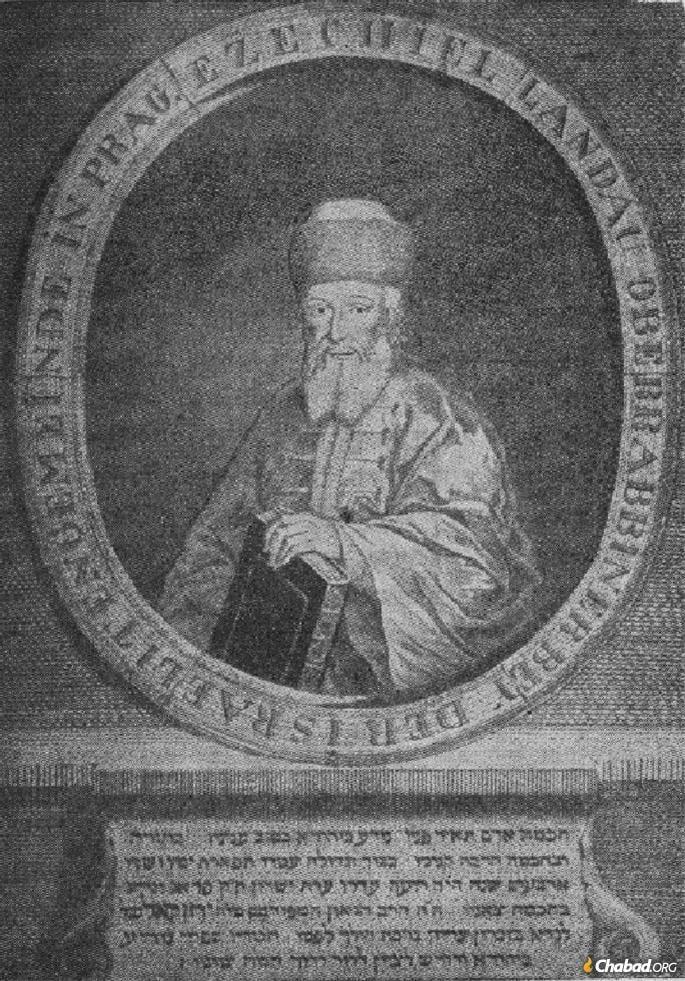 Rabbi Yechezkel Landau was the chief rabbi of Prague.