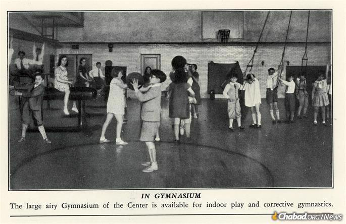 The gym at the center is still in use by the yeshivah boys who today utilize the building. (Credit: Brooklyn Jewish Center archives)