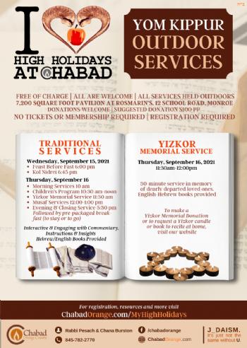 Yom Kippur Schedule