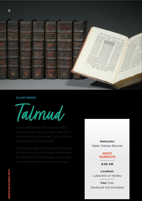 Weekly Talmud Class