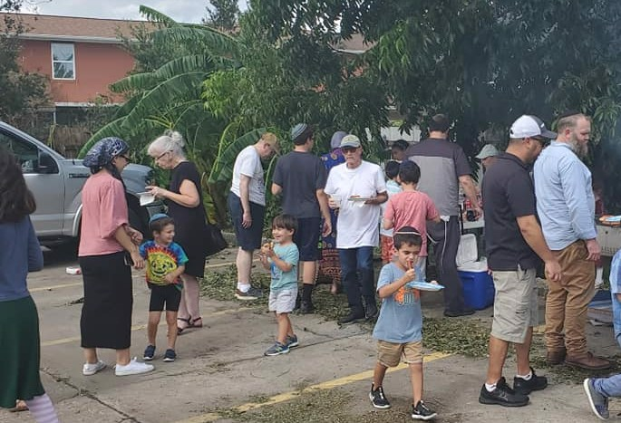 With no electiricity and widespread damage following Hurricane Ida, Chabad emissaries to Metairie, La., made a barbecue and gave away the remaining perishables. It was also a chance to support neighbors and friends during an extraordinarily stressful time.