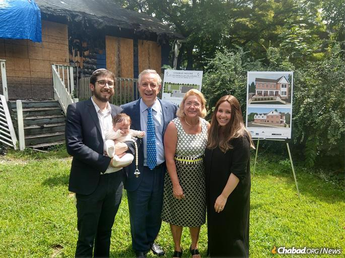 Rabbi Avremi Vogel, Dennis and Eleni Assanis, and Shulie Vogel