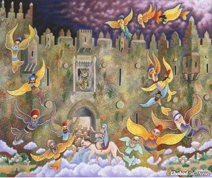 One of Nachshon's many renderings of Jerusalem in the Messianic era. (Photo: Nachshonart.com)