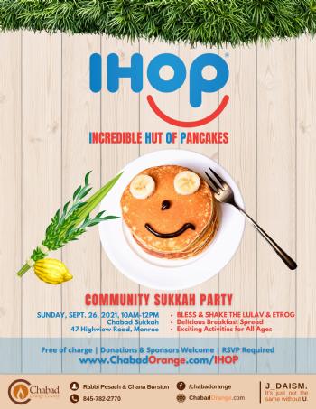 IHOP Sukkah Party
