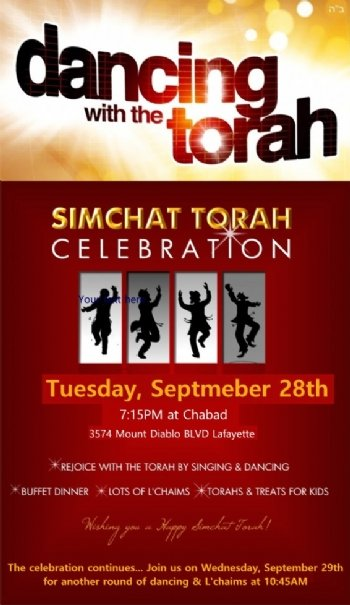Simchat Torah Dancing, feasting and Lchaim's!