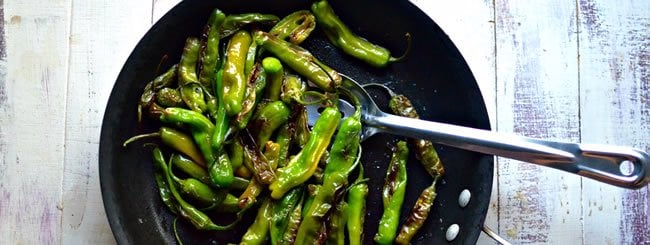 Side Dish: Blistered Shishito Peppers