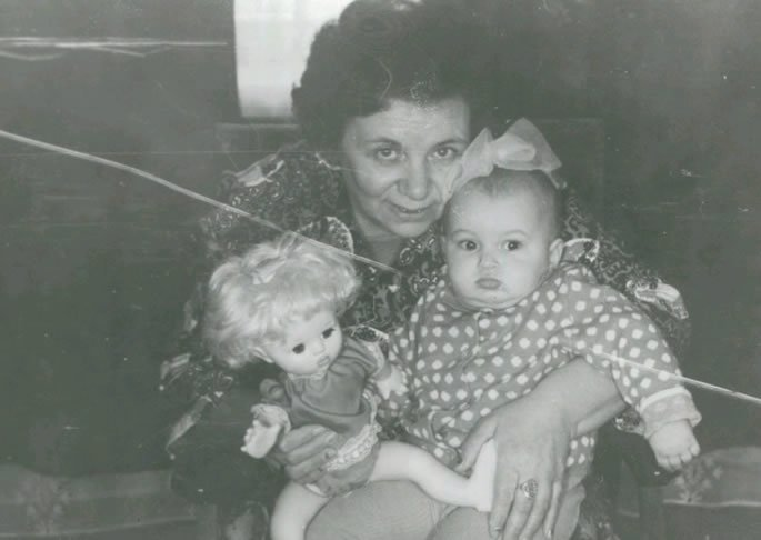 My grandmother Zelda and I, in 1977 in the former Soviet Union.