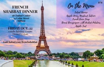 French Shabbos dinner