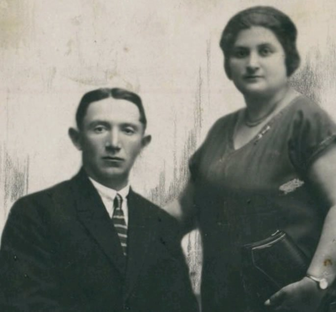 Zelda parents, David and Olga, before her tragic death from childbirth.