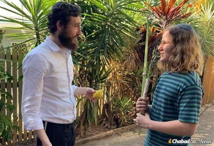 Benjamin Sarnyai, right, says he hopes to continue expanding his Jewish knowledge with Rabbi Ari Rubin.