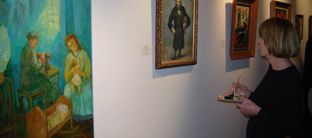 The new gallery's decidedly Jewish-themed offerings are developing a following.