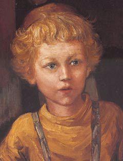 "Detail from ""A Jewish Child"" by Zalman Kleinman"