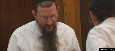 Chief Rabbi of Russia Berl Lazar immersed in Torah study