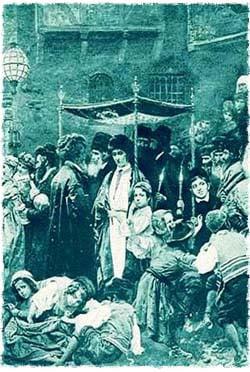 חתונה יהודית מסורתית במזרח אירופה, המאה ה-19