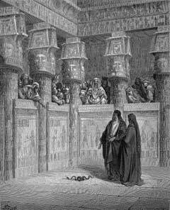 """""""Moses and Aaron Before Pharaoh"""" by Gustave Dore"""
