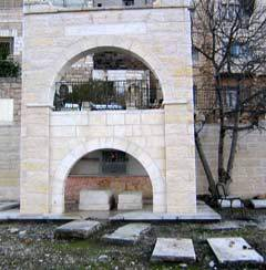 Gravesite of Rebbetzin Menucha Rachel Slonim, granddaughter of Rabbi Schneur Zalman of Liadi, in the old Chabad cemetery in Hebron