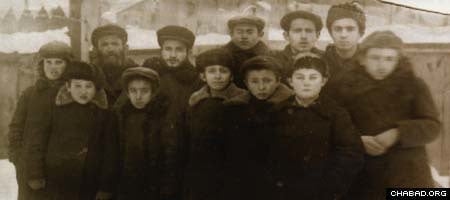 Soviet officials snapped this picture of a group of Jewish students who were arrested for attending an underground school in Berdichev, Ukraine.
