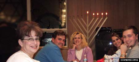 Members of Wyoming's Jewish community take advantage of a Chanukah celebration made possible by Chabad-Lubavitch Rabbi Zalman Mendelsohn, whose family will soon be be taking up full-time residence in the rough and tumble state.