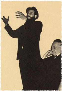 Lipchitz, lors d'une manifestation au centre 'Habad de Californie pendant le discours de Rav Schlomo Cunin.
