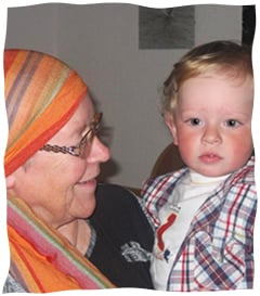 The author with her grandson