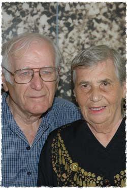 Simon and Hilda Glasberg. © Yossi Ben David – Yad Vashem