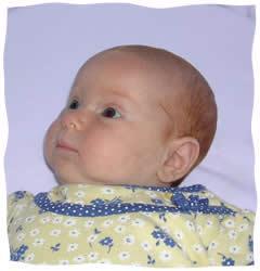 The author's baby, Sasha