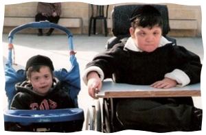 The author's sons, Yisroel Meir and Eliyahu