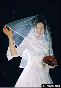 Rivka Holtzberg, nee Rosenberg, on her wedding day in 2002