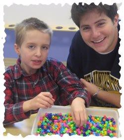 Brad Verona and Alex Van Camp enjoying arts and crafts together
