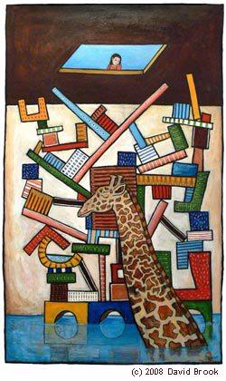 """Giraffe Dreaming With Beauty Spots"" by David Brook"