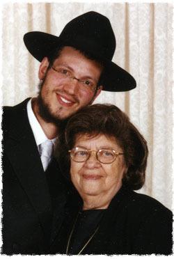 Grandma, Esther Zissel bat Malkah, and I on my wedding day