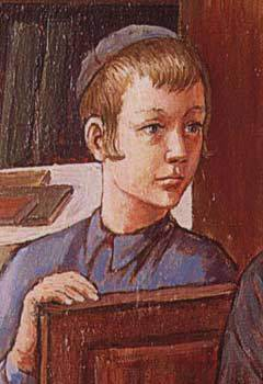 A Jewish Child—detail from a painting by chassidic artist Zalman Kleinman