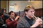 Trumpets and Dancing Greet Princeton's New Torah