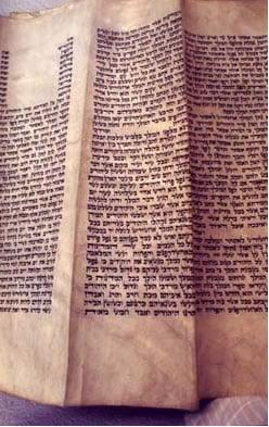 """מגילה שכתב הרבי המהר""""ש. (צילום: ספריית חב""""ד)"""