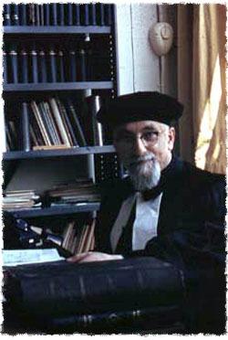 Mi padre Rabi Levi Vorst, de bendita memoria, el último rabino principal de la ciudad de Rotterdam