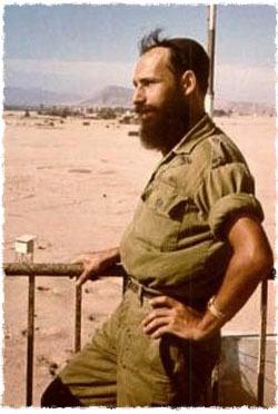Shmuel in his uniform on the battlefield